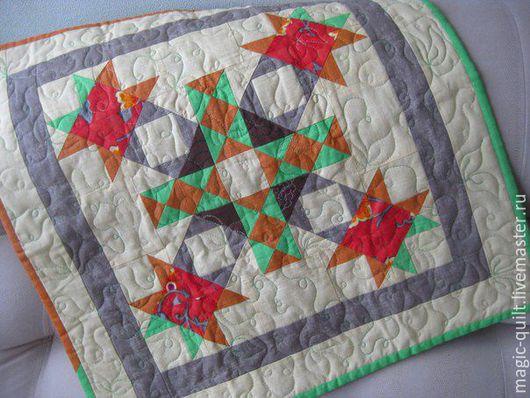 Текстиль, ковры ручной работы. Ярмарка Мастеров - ручная работа. Купить Панно-салфетка. Handmade. Комбинированный, Квилтинг и пэчворк, печворк