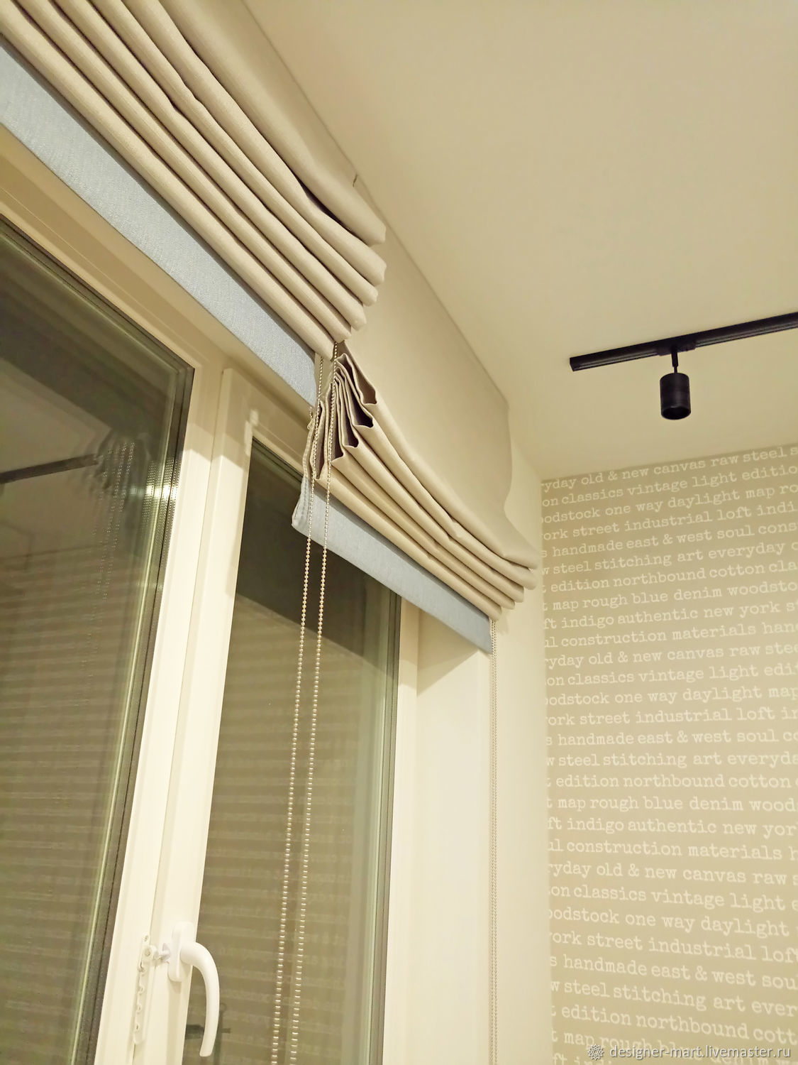 Roman blinds Loft, Roman and roller blinds, Moscow,  Фото №1