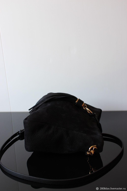 d9ef1fbbc5b5 ... Кросс Женские сумки ручной работы. Заказать Черная замшевая сумка,  Boheme style, с кисточкой, ...