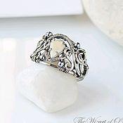 Украшения handmade. Livemaster - original item An opal ring, the wide openwork ring. Handmade.