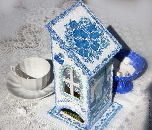 Кухня ручной работы. Ярмарка Мастеров - ручная работа. Купить Чайный домик  Голубые просторы. Handmade. Голубой, кухонная утварь