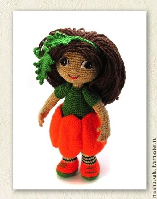 Человечки ручной работы. Ярмарка Мастеров - ручная работа. Купить Куколка Тыковка - игрушка крючком к Хэллоуину кукла тыква. Handmade.