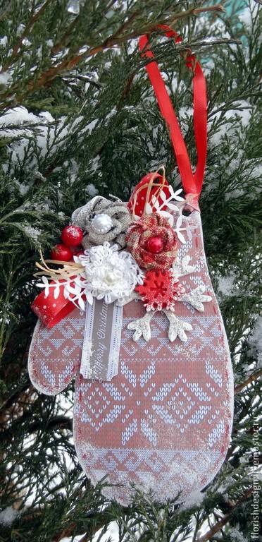 Postcard pendant 'Knitted mitten', Cards, Minsk,  Фото №1