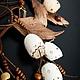 """Колье, бусы ручной работы. Ярмарка Мастеров - ручная работа. Купить Колье """"Беломорье"""". Handmade. Бежевый, латте, многорядное колье"""