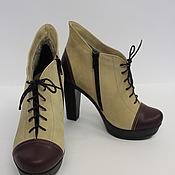 """Обувь ручной работы. Ярмарка Мастеров - ручная работа ботильоны """"Черничка"""". Handmade."""