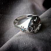 """Фаланговое кольцо ручной работы. Ярмарка Мастеров - ручная работа Кольцо """"Алатырь"""". Handmade."""
