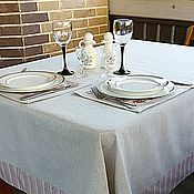 Для дома и интерьера handmade. Livemaster - original item Linen table linen tablecloth and lunchmate Provence. Handmade.