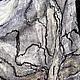 Пончо ручной работы. Пончо валяное бело-черное нунофелтинг. Наталья Кущ (natali-kushch). Ярмарка Мастеров. Наталия кущ