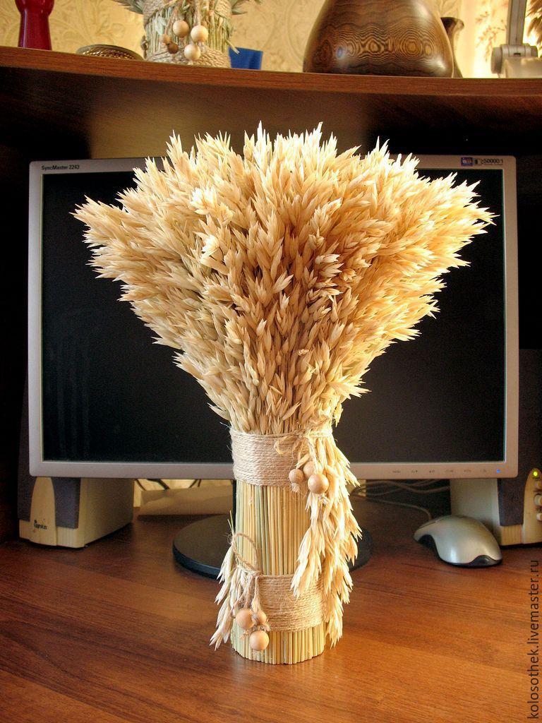 колосья пшеницы из бисера схема