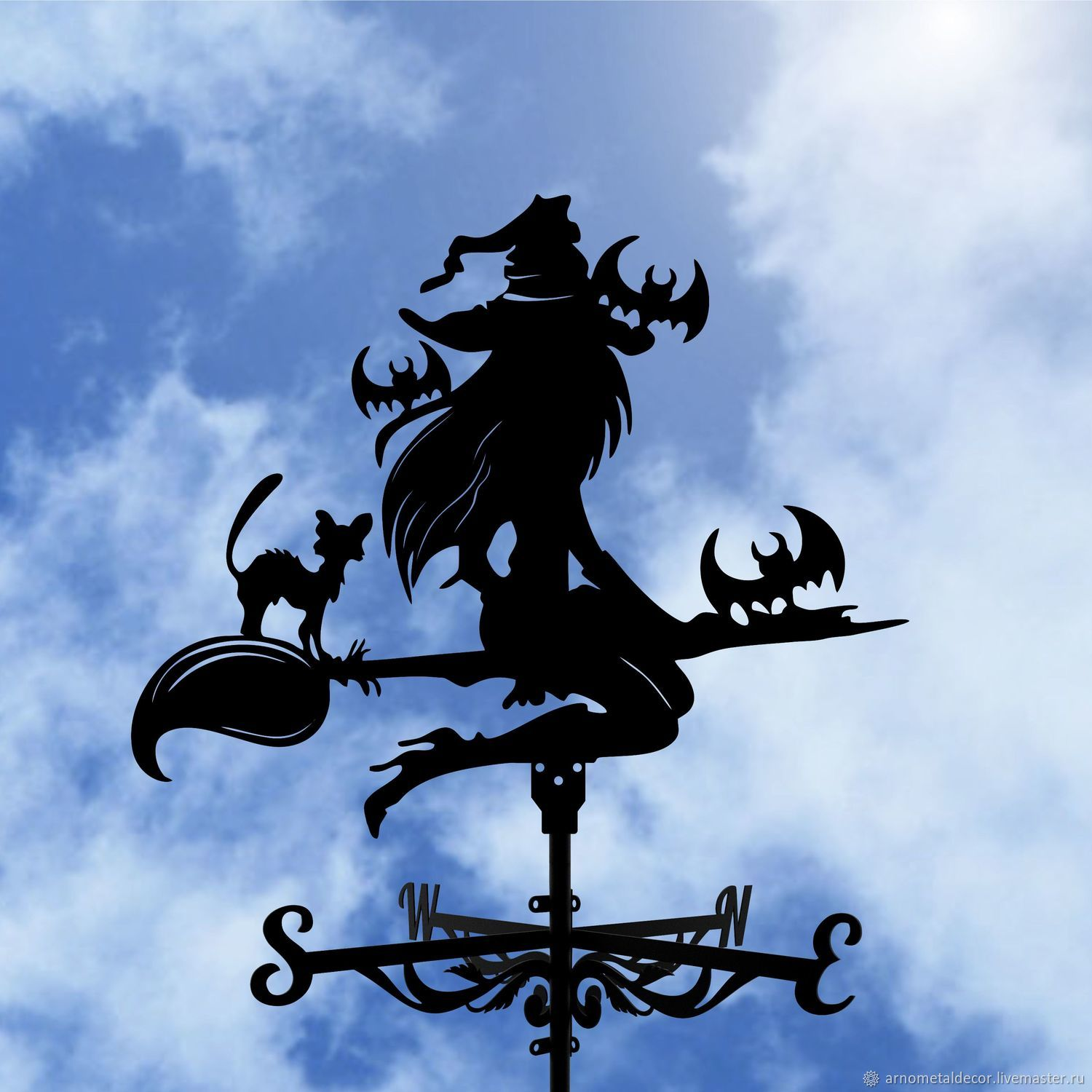 Weather vane on the roof ' The Witch and the Bats', Vane, Ivanovo,  Фото №1