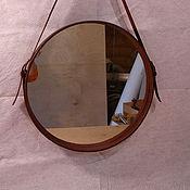 """Для дома и интерьера ручной работы. Ярмарка Мастеров - ручная работа Зеркало для капитанов  """"Captains mirror"""" , натуральная кожа. Handmade."""