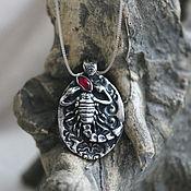 Украшения handmade. Livemaster - original item Silver pendant SCORPIO. Handmade.