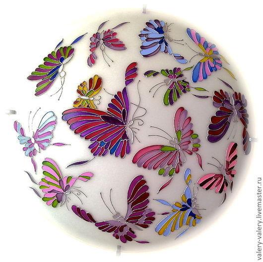 """Освещение ручной работы. Ярмарка Мастеров - ручная работа. Купить Люстра """"Бабочки"""" №1. Handmade. Освещение, дизайн интерьера"""