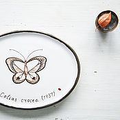 Посуда handmade. Livemaster - original item Collection of butterflies. Serving dish, pottery. Handmade.