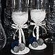 """Свадебные аксессуары ручной работы. Ярмарка Мастеров - ручная работа. Купить бокалы """"зимняя роза"""". Handmade. Белый, свадьба"""