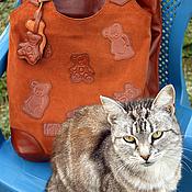 Сумки и аксессуары handmade. Livemaster - original item Soft bag with bears.. Handmade.