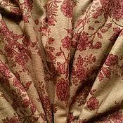 Материалы для творчества handmade. Livemaster - original item Cotton flannel with a pile of Red flowers on the Wet sand. Handmade.