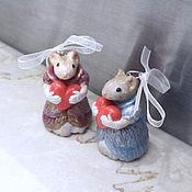Год Крысы ручной работы. Ярмарка Мастеров - ручная работа Мама и дочка. Handmade.