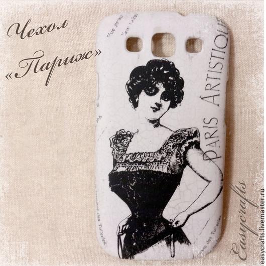 """Для телефонов ручной работы. Ярмарка Мастеров - ручная работа. Купить Чехол для телефона """"Париж""""   ( и еще несколько). Handmade. Серый"""