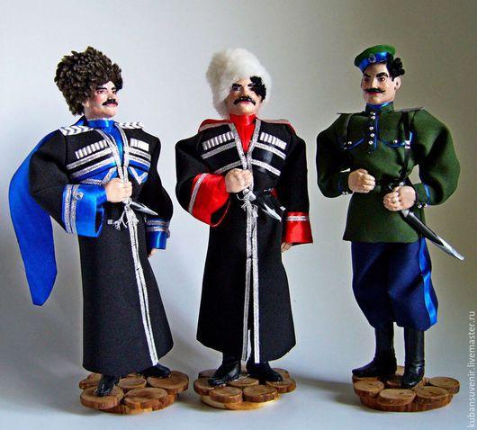 Коллекционные куклы ручной работы. Ярмарка Мастеров - ручная работа. Купить кукла-сувенир в одежде уральских, терских, яицких, кубанских казаков. Handmade.