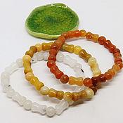 Украшения handmade. Livemaster - original item Solana Bracelet Set (natural aventurine, quartz). Handmade.