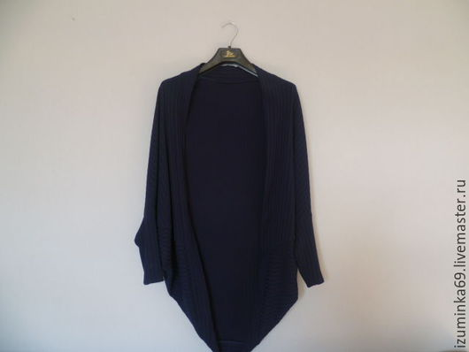 Пиджаки, жакеты ручной работы. Ярмарка Мастеров - ручная работа. Купить Кардиган. Handmade. Тёмно-синий, удобный, трикотажный