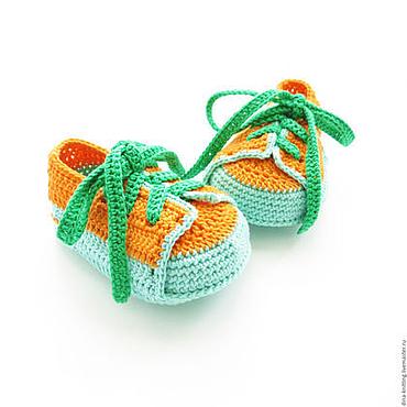 Обувь ручной работы. Ярмарка Мастеров - ручная работа пинетки вязаные пинетки ботиночки кеды пинетки детские пинетки. Handmade.