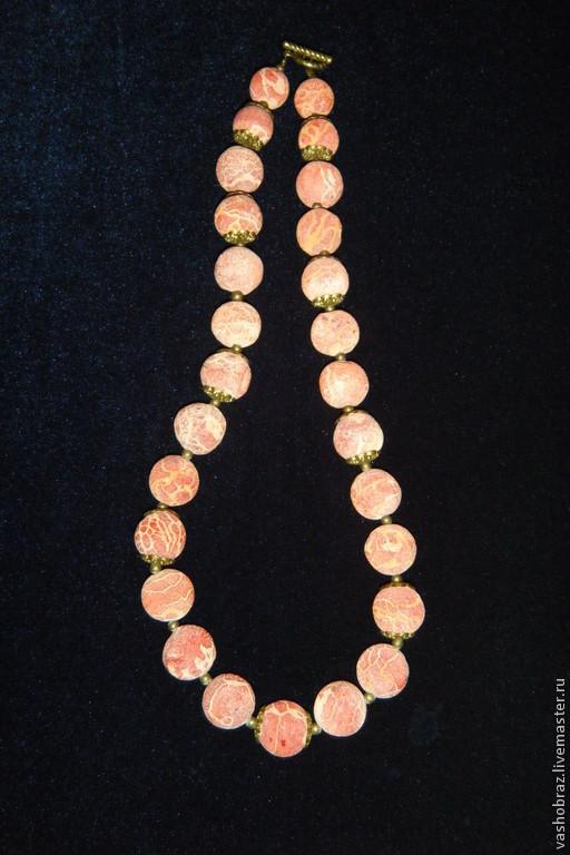 Колье, бусы ручной работы. Ярмарка Мастеров - ручная работа. Купить Дары Красного моря - бусы из губчатого пористого коралла. Handmade.