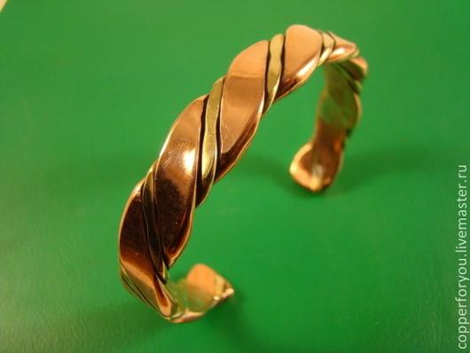 """Браслеты ручной работы. Ярмарка Мастеров - ручная работа. Купить Браслет """"Латунь и медь"""". Handmade. Коричневый, браслет на руку"""