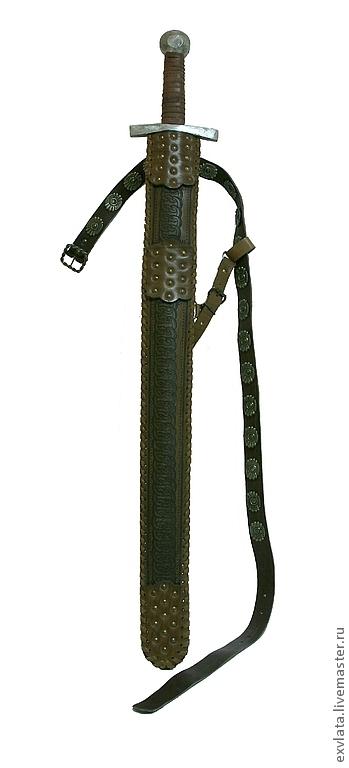 Комплекты аксессуаров ручной работы. Ярмарка Мастеров - ручная работа. Купить Ножны для меча с ремнем  кожаные. Handmade. Коричневый, ножны