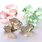 Beads1 handmade. Livemaster - original item Beads briolette glass 3 colors. Handmade.