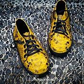 Обувь ручной работы handmade. Livemaster - original item Shoes baby genuine leather Python. Handmade.