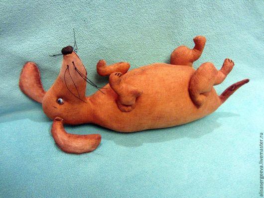 Ароматизированные куклы ручной работы. Ярмарка Мастеров - ручная работа. Купить Такса обжорка. Handmade. Коричневый, собака, хлопок 100%