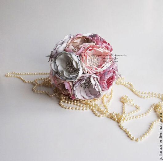 Свадебные цветы ручной работы. Ярмарка Мастеров - ручная работа. Купить Свадебный Брошь букет невесты розовый и лавандовый. Handmade.