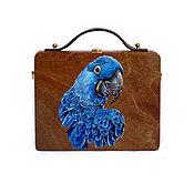 Сумки и аксессуары handmade. Livemaster - original item Women`s bag Parrot made of wood with painting. Handmade.