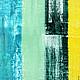 Абстракция ручной работы. Заказать Абстрактная живопись STRIPES.. Анна. Ярмарка Мастеров. Голубой, картина, Живопись, солнечный, холст