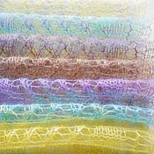Аксессуары ручной работы. Ярмарка Мастеров - ручная работа Ажурный вязаный шарф-палантин из кид мохера с шёлком пастельных цветов. Handmade.