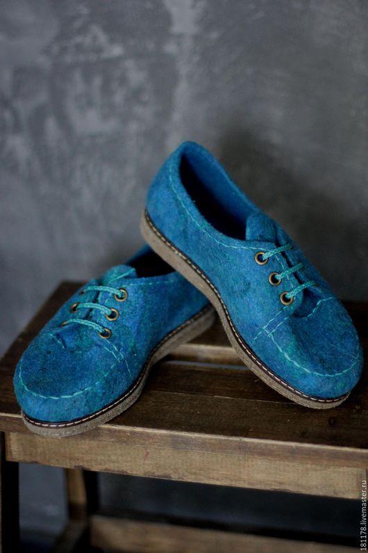 Обувь ручной работы. Ярмарка Мастеров - ручная работа. Купить Туфли из войлока на маленькую ножку (35-36 р.). Handmade.