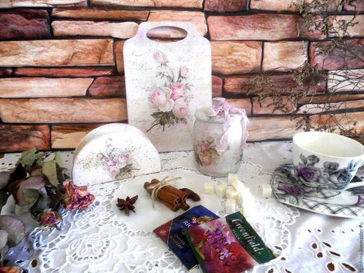"""Кухня ручной работы. Ярмарка Мастеров - ручная работа. Купить Набор для кухни из трёх предметов """"Нежный"""". Handmade. Бледно-розовый"""