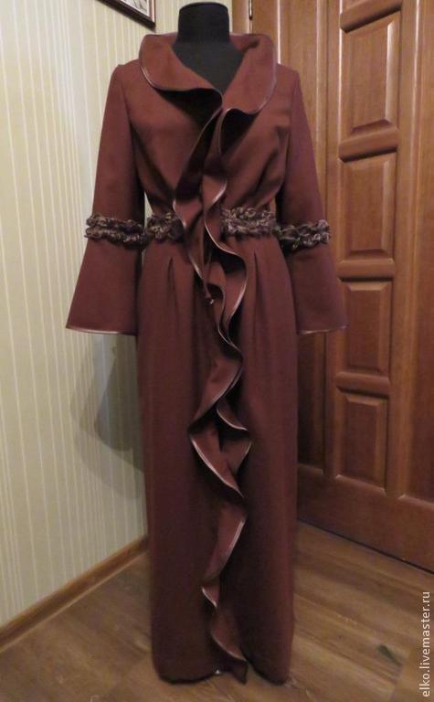 """Платья ручной работы. Ярмарка Мастеров - ручная работа. Купить Платье домашнее """"Будуарное №2"""" терракотовое. Handmade. Коричневый, домашнее"""