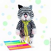 Куклы и игрушки ручной работы. Ярмарка Мастеров - ручная работа Полосатый котик. Handmade.