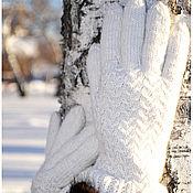 """Аксессуары ручной работы. Ярмарка Мастеров - ручная работа Перчатки """"Снег"""". Handmade."""
