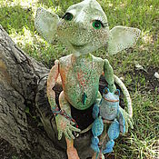 Куклы и пупсы ручной работы. Ярмарка Мастеров - ручная работа Анфиса--болотная огра. Handmade.