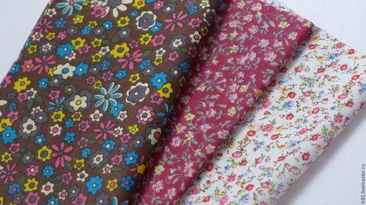 Шитье ручной работы. Ярмарка Мастеров - ручная работа. Купить Ткань, отрезы 20х25 см, 3 шт.. Handmade. Розовый