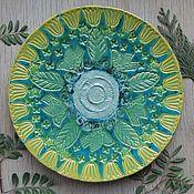 """Тарелки ручной работы. Ярмарка Мастеров - ручная работа Тарелка """"Летний сад"""". Handmade."""