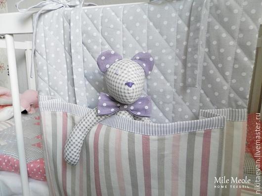 Детская ручной работы. Ярмарка Мастеров - ручная работа. Купить кармашки для детской кроватки. Handmade. Карманы, в детскую кроватку, карманы