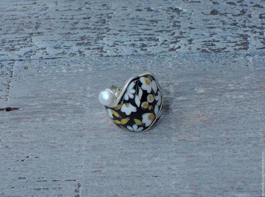 Кольца ручной работы. Ярмарка Мастеров - ручная работа. Купить Кольцо с жемчугом. Handmade. Разноцветный, белый, минанкари