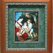 "Картины и панно handmade. Livemaster - original item ""Madonna with St. Anne and young John the Baptist"". Handmade."