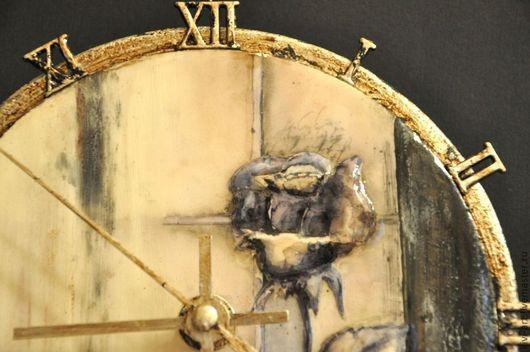 """Часы для дома ручной работы. Ярмарка Мастеров - ручная работа. Купить Часы  """"Круг времени"""". Handmade. Чёрно-белый, модерн"""