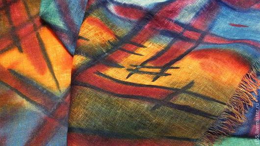 """Шали, палантины ручной работы. Ярмарка Мастеров - ручная работа. Купить Палантин  """"Бермуды цвета 2"""". Handmade. Орнамент, палантин"""